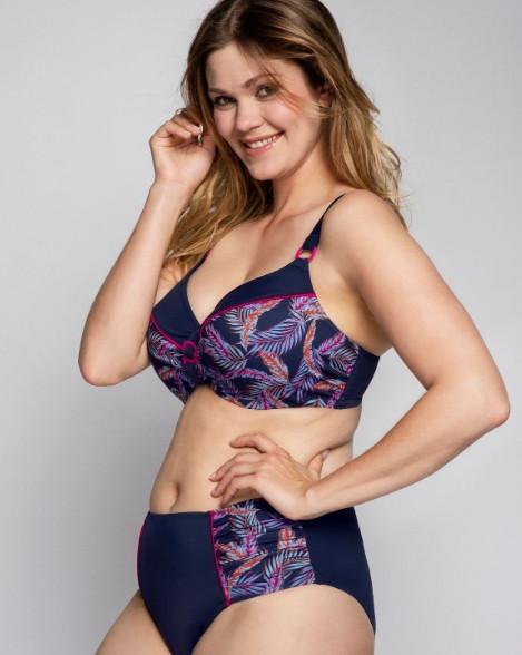 Bikini-Top Nizza, Blau, von ULLA Dessous, Kombination, Vorderansicht