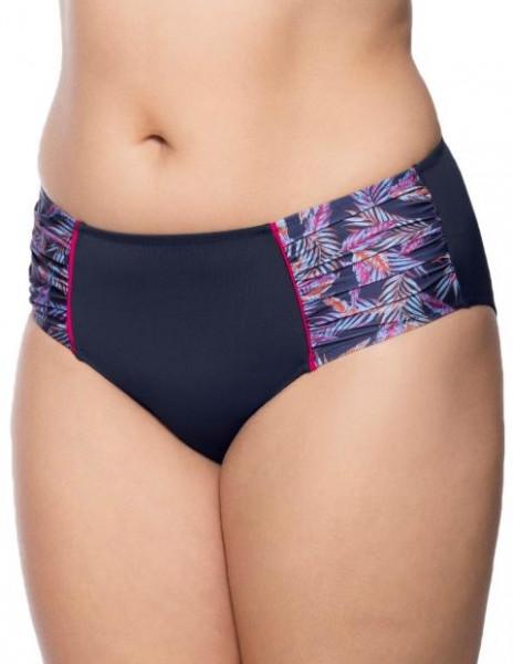 Hoher Bikini-Slip Nizza, Blau, von ULLA Dessous, Detailansicht